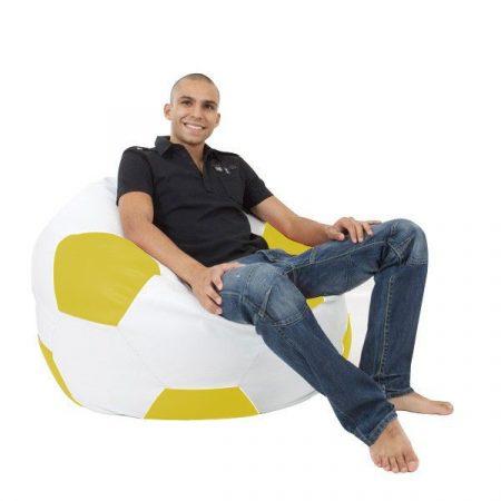 XXL sedací vak futbalová lopta (zeleno - biela)