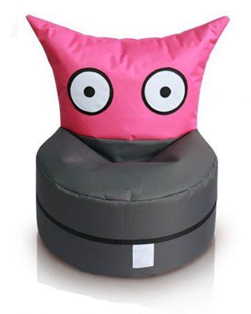 OWL detský sedací vak rozkošný tvor (pink-antracit)