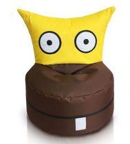 OWL detský sedací vak rozkošný tvor hnedo-žltý