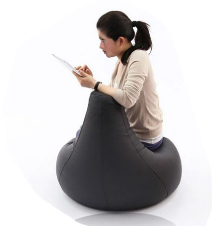 L sedací vak fotel (čierny)
