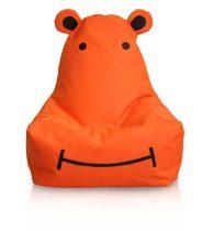 Detský sedací vak HIPPO hrošík (oranžový)