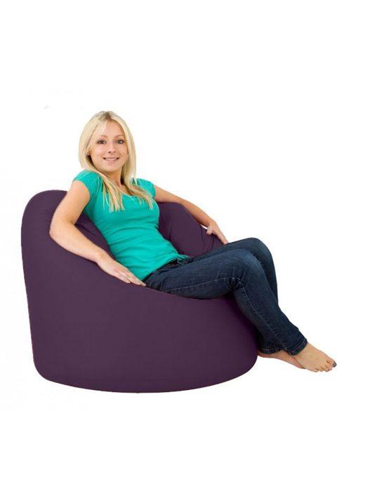 Grande XXXL sedací vak + Darček puff (fialový)