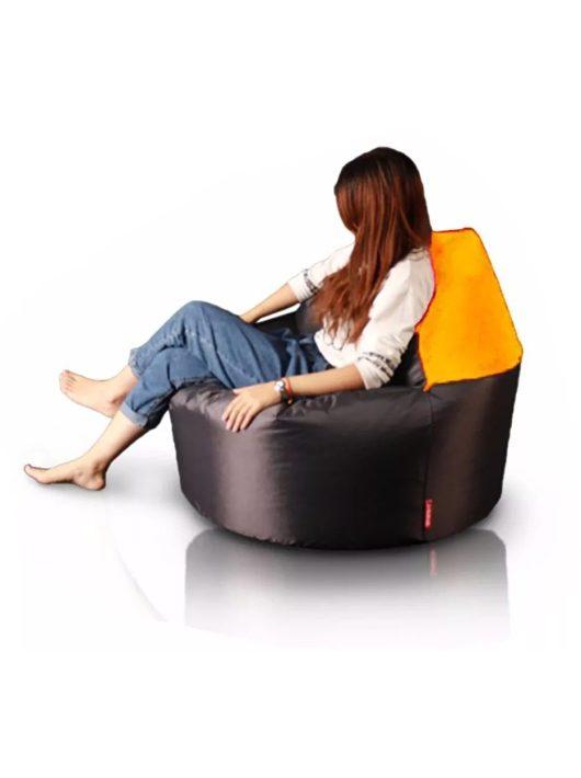 XL 2 v 1 sedací vak - puff (oranžová- tmavo hnedá)